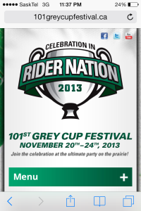 101st Grey Cup Festival Website